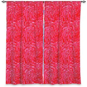 Decorative Window Treatments   Ruth Palmer - Swirling Pink Squares   Circles shapes repetition pattern