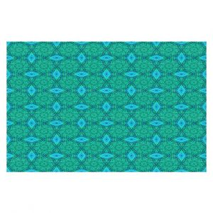 Decorative Floor Covering Mats   Ruth Palmer - Teal Diamonds   Shapes pattern repetition