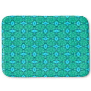 Decorative Bathroom Mats | Ruth Palmer - Teal Diamonds | Shapes pattern repetition