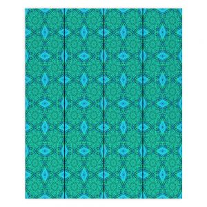 Decorative Wood Plank Wall Art | Ruth Palmer - Teal Diamonds | Shapes pattern repetition