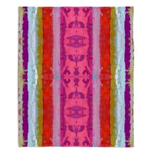 Artistic Sherpa Pile Blankets | Ruth Palmer - The Sky is Falling 1 | Abstract lines stripes pattern