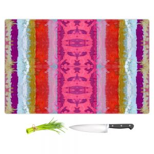 Artistic Kitchen Bar Cutting Boards | Ruth Palmer - The Sky is Falling 1 | Abstract lines stripes pattern