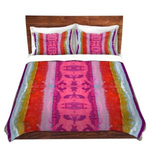 Artistic Duvet Covers and Shams Bedding   Ruth Palmer - The Sky is Falling 1   Abstract lines stripes pattern