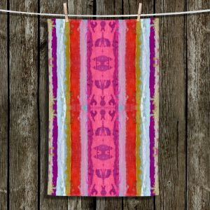 Unique Hanging Tea Towels | Ruth Palmer - The Sky is Falling 1 | Abstract lines stripes pattern