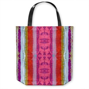 Unique Shoulder Bag Tote Bags | Ruth Palmer - The Sky is Falling 1 | Abstract lines stripes pattern