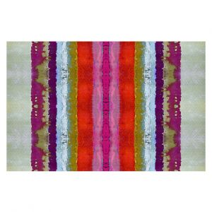 Decorative Floor Covering Mats | Ruth Palmer - The Sky is Falling 2 | Abstract lines stripes pattern
