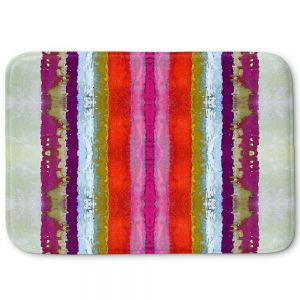 Decorative Bathroom Mats | Ruth Palmer - The Sky is Falling 2 | Abstract lines stripes pattern