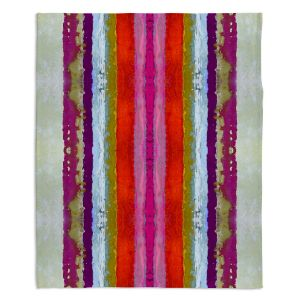 Decorative Fleece Throw Blankets | Ruth Palmer - The Sky is Falling 2 | Abstract lines stripes pattern