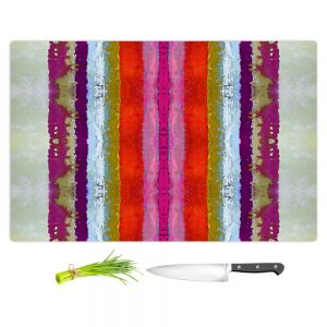 Artistic Kitchen Bar Cutting Boards | Ruth Palmer - The Sky is Falling 2 | Abstract lines stripes pattern