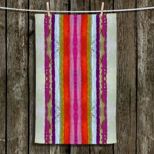 Unique Bathroom Towels   Ruth Palmer - The Sky is Falling 2   Abstract lines stripes pattern