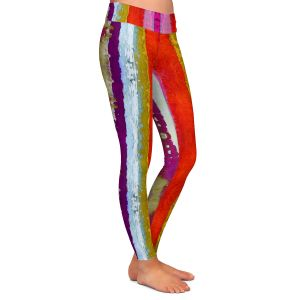 Casual Comfortable Leggings | Ruth Palmer - The Sky is Falling 2 | Abstract lines stripes pattern