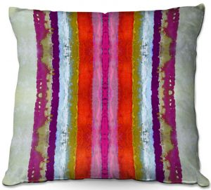 Decorative Outdoor Patio Pillow Cushion | Ruth Palmer - The Sky is Falling 2 | Abstract lines stripes pattern