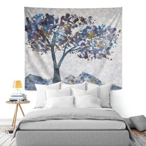 Artistic Wall Tapestry   Ruth Palmer - Tree With Pattern   Nature Trees Mountains