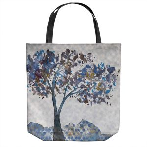 Unique Shoulder Bag Tote Bags | Ruth Palmer - Tree With Pattern | Nature Trees Mountains