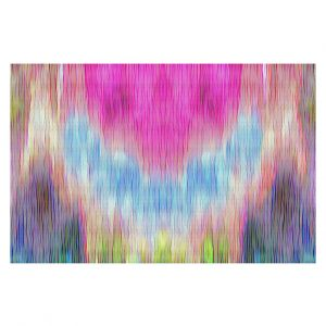 Decorative Floor Covering Mats | Ruth Palmer - Triangular veil | Abstract pastel chevron arrow triangle