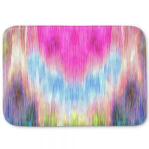 Decorative Bathroom Mats | Ruth Palmer - Triangular veil | Abstract pastel chevron arrow triangle