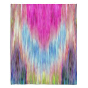 Decorative Fleece Throw Blankets | Ruth Palmer - Triangular veil | Abstract pastel chevron arrow triangle