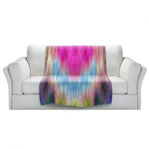 Artistic Sherpa Pile Blankets   Ruth Palmer - Triangular veil   Abstract pastel chevron arrow triangle