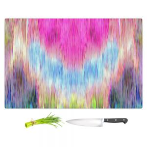 Artistic Kitchen Bar Cutting Boards | Ruth Palmer - Triangular veil | Abstract pastel chevron arrow triangle