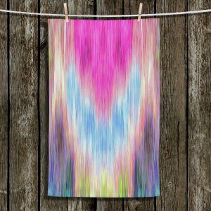 Unique Hanging Tea Towels | Ruth Palmer - Triangular veil | Abstract pastel chevron arrow triangle