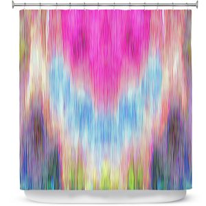 Premium Shower Curtains | Ruth Palmer - Triangular veil | Abstract pastel chevron arrow triangle