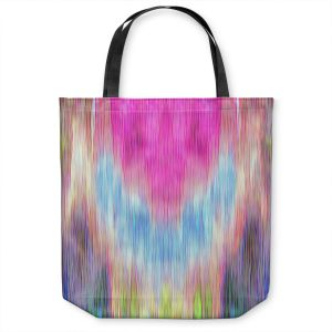 Unique Shoulder Bag Tote Bags | Ruth Palmer - Triangular veil | Abstract pastel chevron arrow triangle