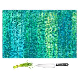 Artistic Kitchen Bar Cutting Boards | Ruth Palmer - Turquoise Abstract | Geometric Pattern