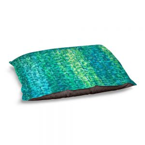 Decorative Dog Pet Beds | Ruth Palmer - Turquoise Abstract | Geometric Pattern