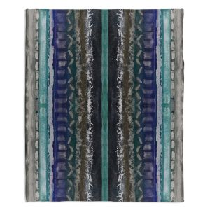 Decorative Fleece Throw Blankets | Ruth Palmer - Vertical Darks XIII | Stripes pattern repetition abstract