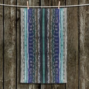 Unique Bathroom Towels | Ruth Palmer - Vertical Darks XIII | Stripes pattern repetition abstract