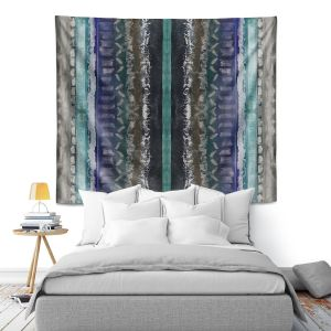 Artistic Wall Tapestry | Ruth Palmer - Vertical Darks XIII | Stripes pattern repetition abstract