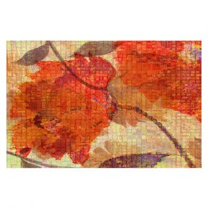 Decorative Floor Covering Mats | Ruth Palmer - Wallflower | Close up nature still life leaf leaves branch fall autumn pattern