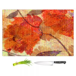 Artistic Kitchen Bar Cutting Boards | Ruth Palmer - Wallflower | Close up nature still life leaf leaves branch fall autumn pattern