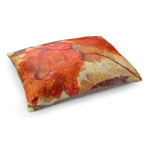 Decorative Dog Pet Beds | Ruth Palmer - Wallflower | Close up nature still life leaf leaves branch fall autumn pattern