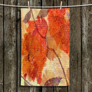 Unique Bathroom Towels | Ruth Palmer - Wallflower | Close up nature still life leaf leaves branch fall autumn pattern