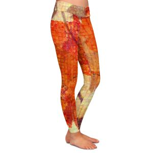 Casual Comfortable Leggings | Ruth Palmer - Wallflower | Close up nature still life leaf leaves branch fall autumn pattern