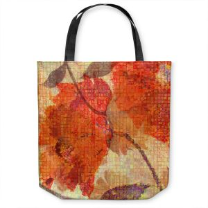 Unique Shoulder Bag Tote Bags | Ruth Palmer - Wallflower | Close up nature still life leaf leaves branch fall autumn pattern