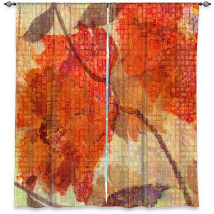 Decorative Window Treatments | Ruth Palmer - Wallflower | Close up nature still life leaf leaves branch fall autumn pattern