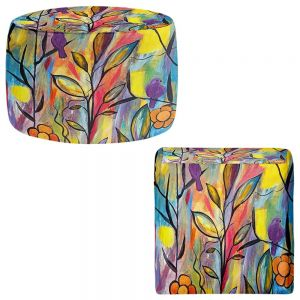 Round and Square Ottoman Foot Stools | Ruth Palmer - Watching and Waiting
