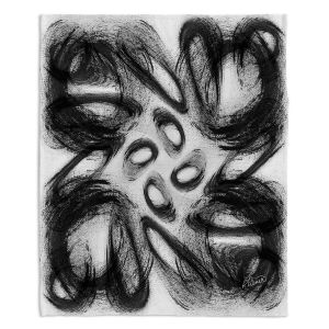 Decorative Fleece Throw Blankets | Ruth Palmer - Whisked Away | Brushstrokes pattern repetition
