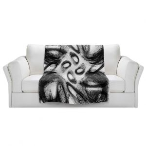 Artistic Sherpa Pile Blankets   Ruth Palmer - Whisked Away   Brushstrokes pattern repetition