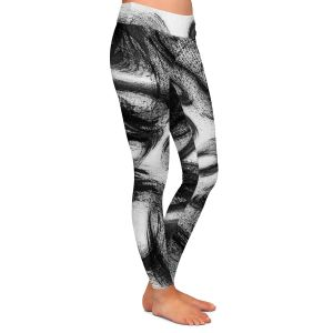 Casual Comfortable Leggings | Ruth Palmer - Whisked Away | Brushstrokes pattern repetition