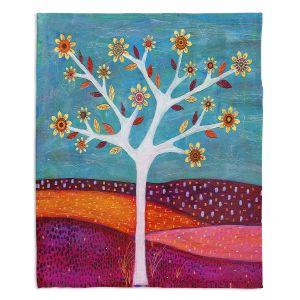 Decorative Fleece Throw Blankets | Sascalia - Amber