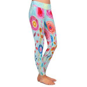 Casual Comfortable Leggings   Sascalia - Bloom   Flowers Garden Nature Boho Chic