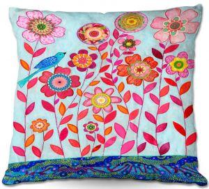 Decorative Outdoor Patio Pillow Cushion | Sascalia - Blue Bird
