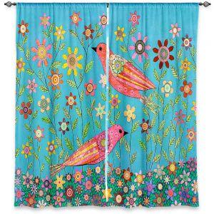 Decorative Window Treatments | Sascalia Bohemian Birds