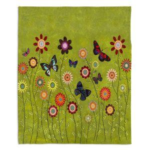Decorative Fleece Throw Blankets | Sascalia - Bohemian Butterflies
