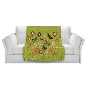 Artistic Sherpa Pile Blankets | Sascalia Bohemian Butterflies