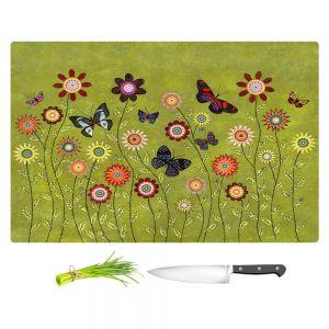 Artistic Kitchen Bar Cutting Boards | Sascalia - Bohemian Butterflies