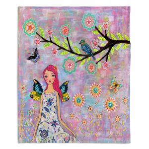 Decorative Fleece Throw Blankets   Sascalia - Butterfly Fairy